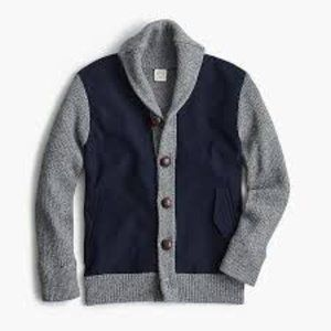 CREWCUTS 14 yr Button Up Sweater Jacket Heathered